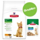 Pack bi-nutrition : 5 kg de croquettes + sachets Hill's Science Plan Kitten pour chaton
