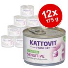 Pack Ahorro: Kattovit Sensitive en latas 12 x 175 g