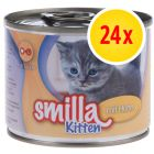 Pack ahorro Smilla Kitten 24 x 200 g
