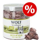 Pack de experimentação: 1 x Wolf of Wilderness snacks liofilizados premium