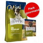 Pack gourmand 4 kg de croquettes Happy Dog Supreme Mini + 24 friandises Happy Dog Tasty