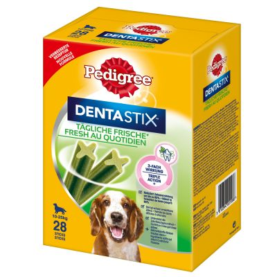 Pack gourmand Pedigree : 56 Dentastix Daily Oral Care + 56 Dentastix Daily Fresh à prix avantageux !