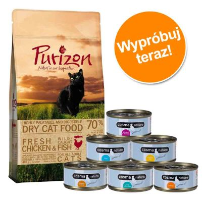 Pakiet próbny: 400 g Purizon + 6 x 70 g Cosma Nature