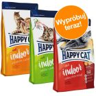 Pakiet próbny Happy Cat Indoor Adult, 3 x 4 kg