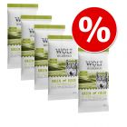 Pakiet próbny Wolf of Wilderness Adult Green Fields, jagnięcina, 5 x 80 g