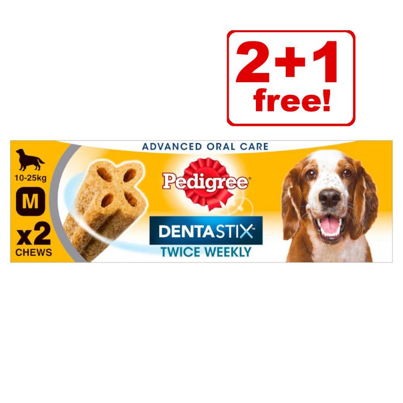 Pedigree Dentastix Dental Dog Snacks - 2 + 1 Free!*