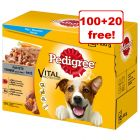 Pedigree Pouches - 100 + 20 Free!*
