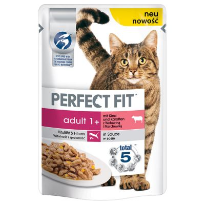 Perfect Fit Adult 1+ con Manzo e Carote in Salsa