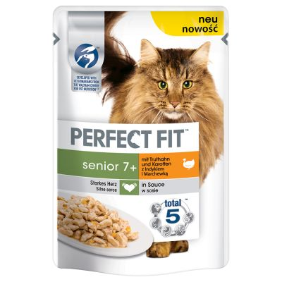 Perfect Fit Senior con Tacchino e Carote in Salsa