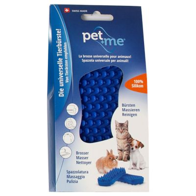 pet+me Silicone Brush - Blue
