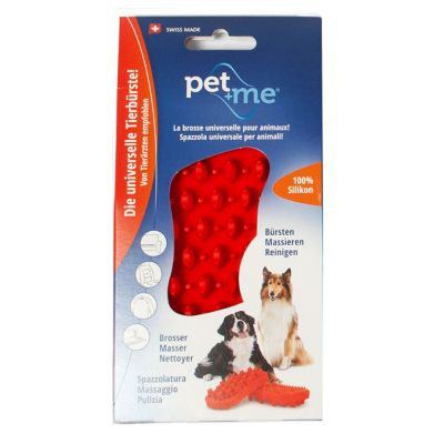 pet+me Silicone Brush - Red