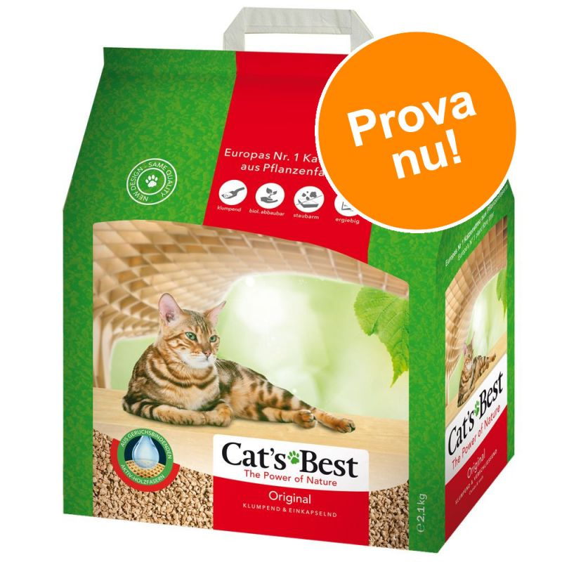 Provpack: Cat's Best Öko Plus / Original kattströ 5 l
