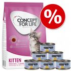 Provpack Kitten: 400 g Concept for Life + Cosma Nature