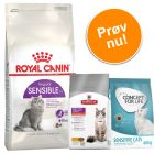 Prøvepakke: 2 kg Royal Canin Sensible eller Sterilised + 400 g Concept for Life & Hill's