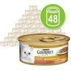 Purina Gourmet Gold Doble Placer 48 x 85 g - Pack Ahorro