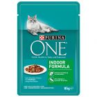 PURINA ONE Indoor Formula 6 x 85 g pour chat