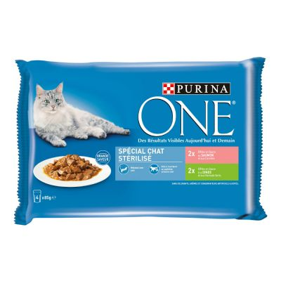 PURINA ONE Chat Stérilisé 4 x 85 g