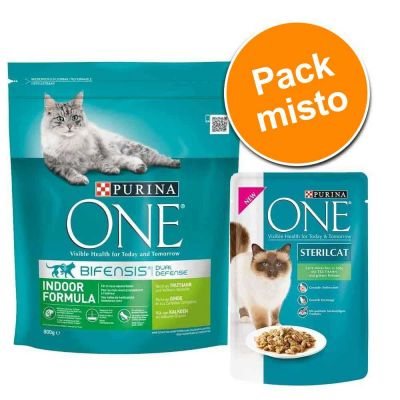 Purina ONE 800 g + 6 x 85 g - Pack misto