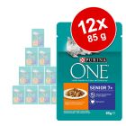 Purina ONE Senior 7+ Pui 12 x 85 g