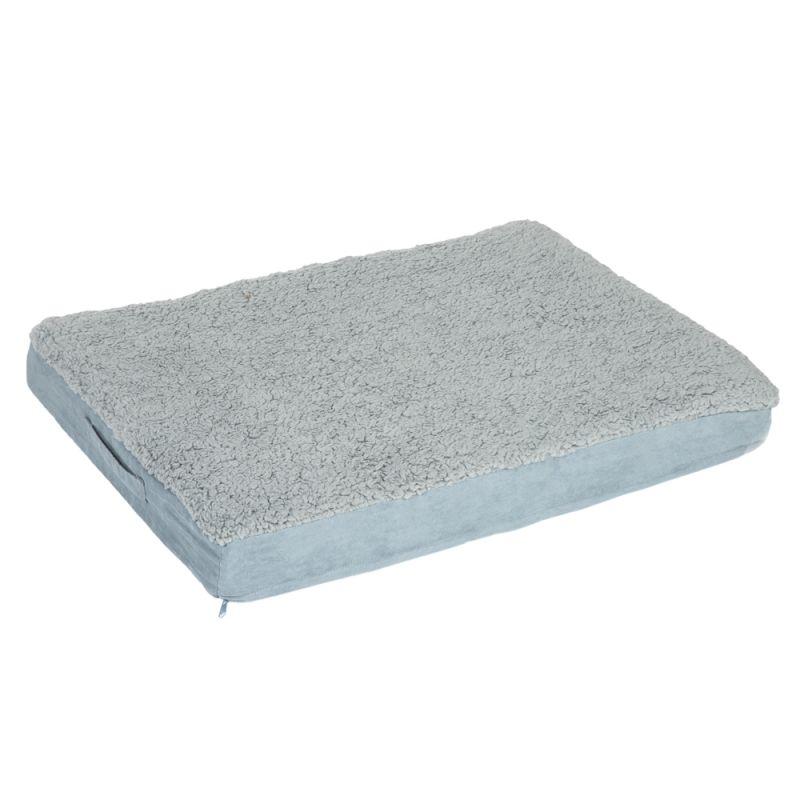 Rectangular Memory Foam Dog Bed - Grey