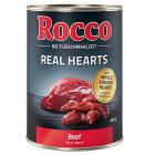 Rocco Real Hearts - Beef with whole Chicken Hearts 400g