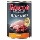 Rocco Real Hearts - Chicken with whole Chicken Hearts 400g