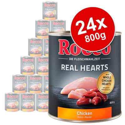 Rocco Real Hearts Saver Pack 24 X 800g Premium Wet Dog