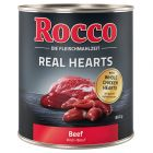 Rocco Real Hearts 6 x 800 g pour chien