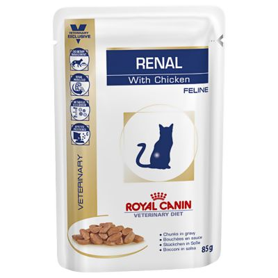 Royal Canin Veterinary Diet Feline Renal Pouches - Chicken