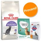 Set gatti sterilizzati Royal Canin, Concept for Life & Hill's
