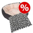 Set Letto Cozy Velluto + Coperta in pile Pawty