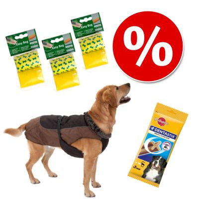 Set Mantella Grizzly II + 6 rotoli Sacchetti Karlie + 7 pz Pedigree Dentastix