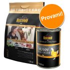 Set prova misto Belcando: 3 kg Mix it + 6 x 400 g umido Single Protein
