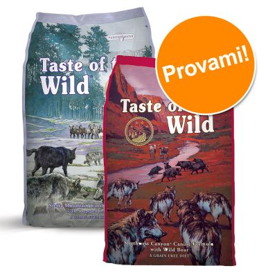 Set prova misto! 2 x 6 kg Taste of the Wild