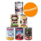 Set prova Rocco, Lukullus, Wolf of Wilderness & zooplus 6 x 400 g