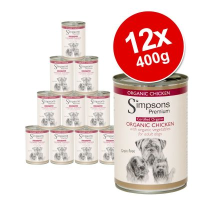Simpsons Premium Wet Dog Food Saver Pack 12 x 400g