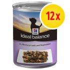 Sparpaket Hill's Canine Ideal Balance Adult 12 x 363 g