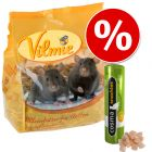 Sparset: 2 kg Vilmie Premium-Rattenfutter + Cosma snackies