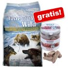 Taste of the Wild 13 kg + mrazem sušený pamlsek Wolf of Wilderness zdarma!