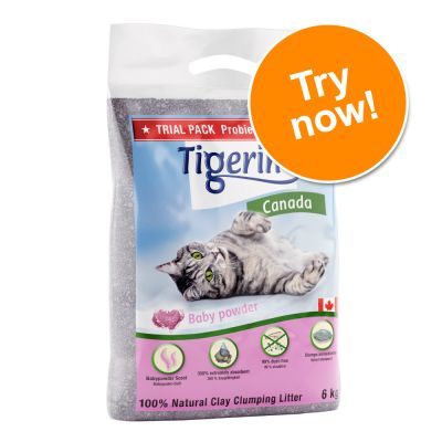 Tigerino Canada Cat Litter Trial Pack – Baby Powder