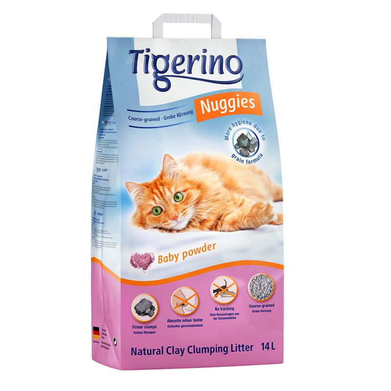 Tigerino Nuggies Cat Litter – Coarse-Grained, Babypowder Scented