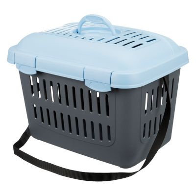 Trixie Midi-Capri Pet Carrier - Light Grey & Blue