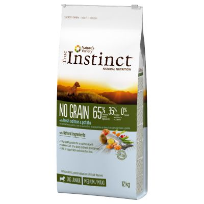 True Instinct No Grain Junior Medium-Maxi con salmón