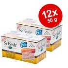 Varčno pakiranje Schesir Natural Small 12 x 50 g
