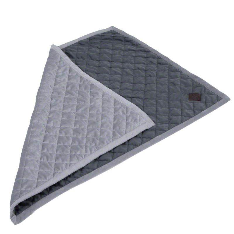 Velvet Snuggle Blanket - Granite Grey