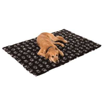 Vetbed® Isobed SL Paw Pet Blanket - Black / Grey
