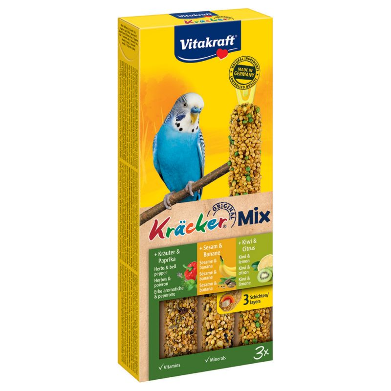 Vitakraft Budgies Crackers Trio-Mix