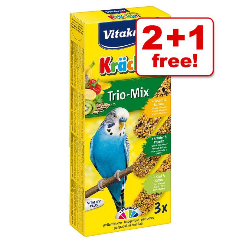 Vitakraft Budgies Crackers Trio-Mix - 2 + 1 Free!*