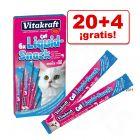 Vitakraft Cat Liquid-Snack 24 x 15 g: 20 + 4 ¡gratis!