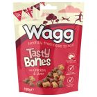Wagg Tasty Bones Treats - Chicken & Liver